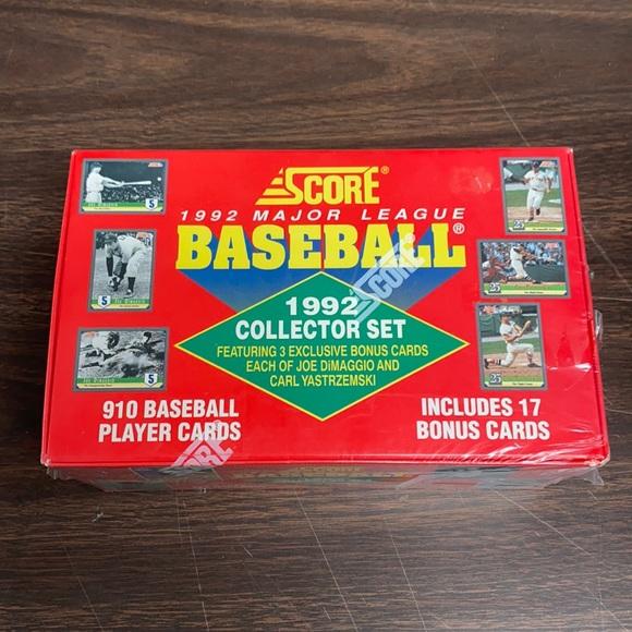 1992 score baseball complete set 17 bonus